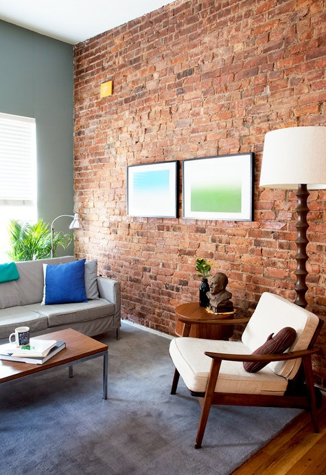 30 cool brick walls ideas for living room - ecstasycoffee