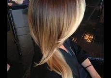 Layered Long Hair with Highlighted Ombre