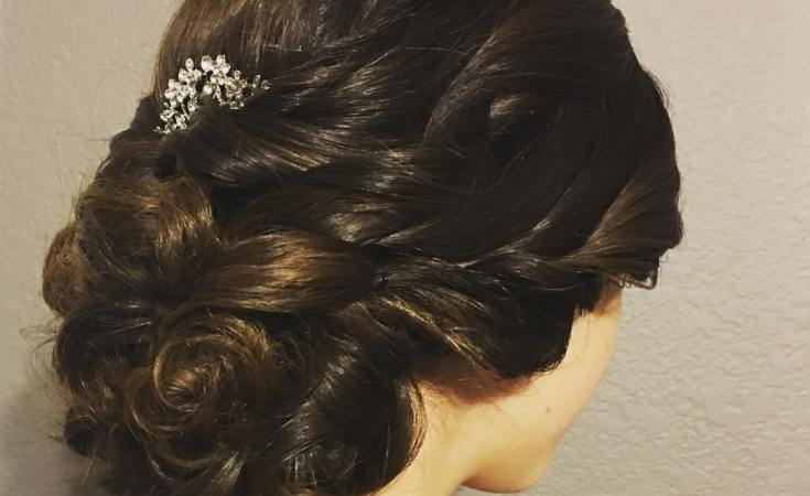 Love this beautiful style for sweet Avery for her homecoming party. She wanted to see the curls and the texture.