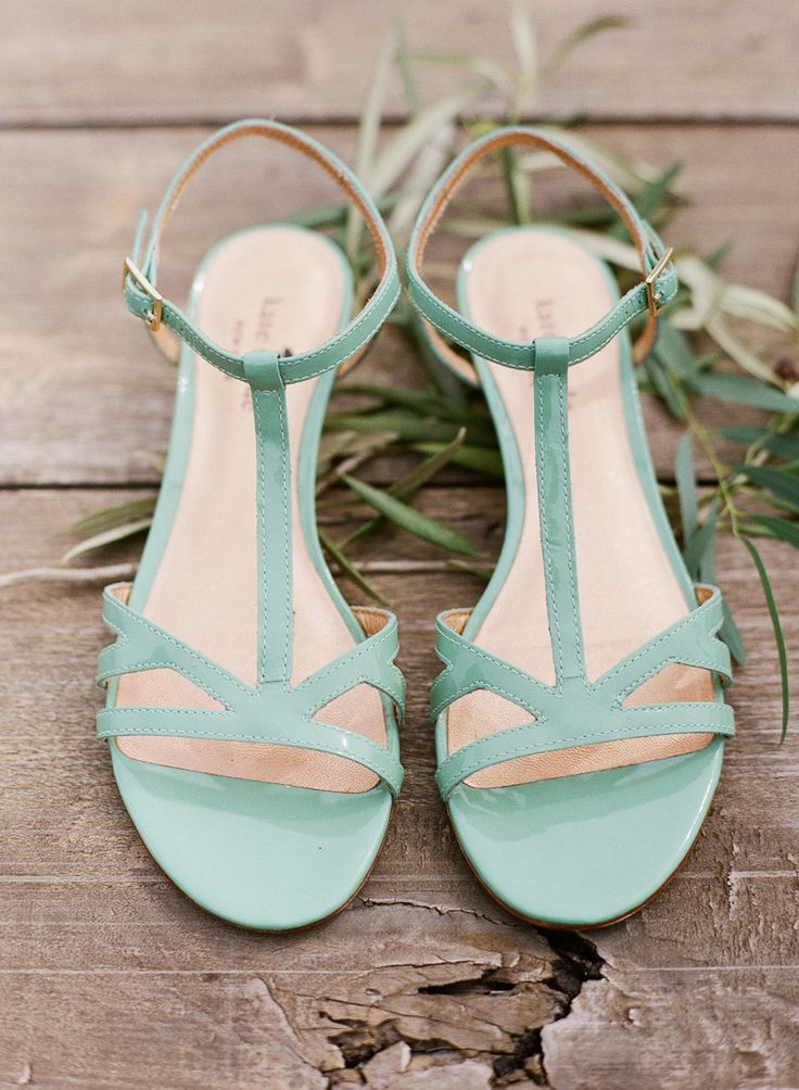 Mint Kate Spade wedding shoes