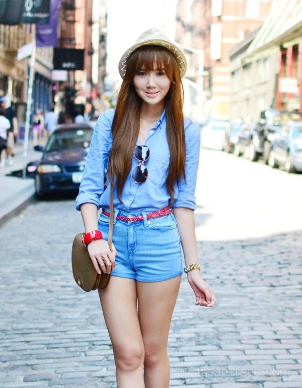 900b922ada Here are 40 cute high waist shorts ideas how to wear your favorite high  waist shorts.