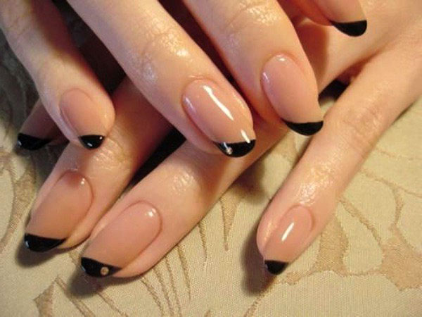 Black French Nail Art Designs
