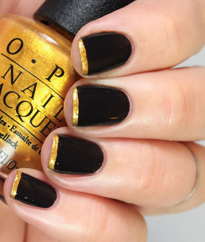 40 Best Shellac Nail Art Design Ideas Ecstasycoffee: 40 Cool Black French Nail Art Designs That Drop Your Jaw