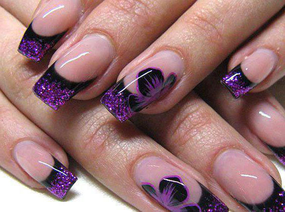 40 Cool Black French Nail Art Designs That Drop Your Jaw ...