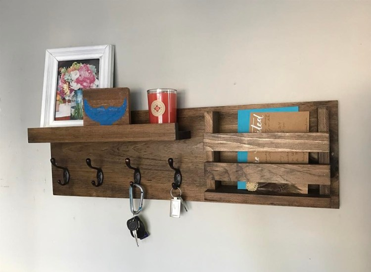 Favorite 40 Beginner Level Handmade Entryway Organizer Designs that Look  XM88