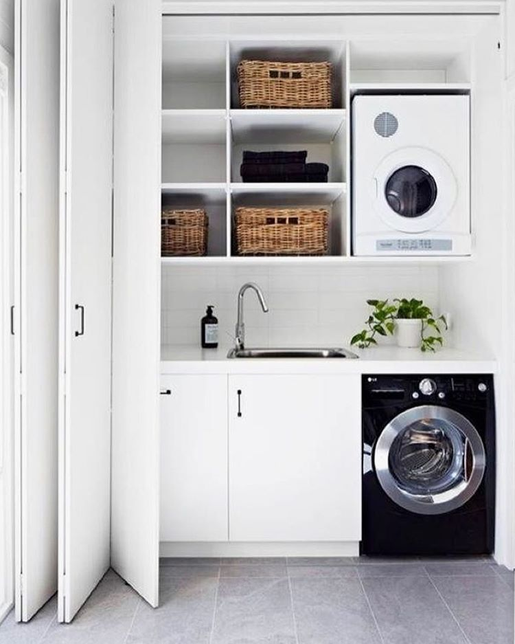 43 Extremely Creative Small Kitchen Design Ideas: 53 Affordable And Simple Laundry Room Decorating Ideas
