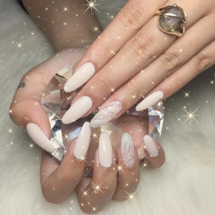#annhuongnails #nailart #nails #hanoi #nailsdesign #whitenailart ... - 53 Adorable White Nail Art Ideas To Try