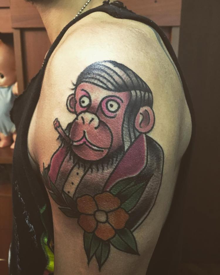 50 brilliant monkey tattoo design ideas who want to get inked