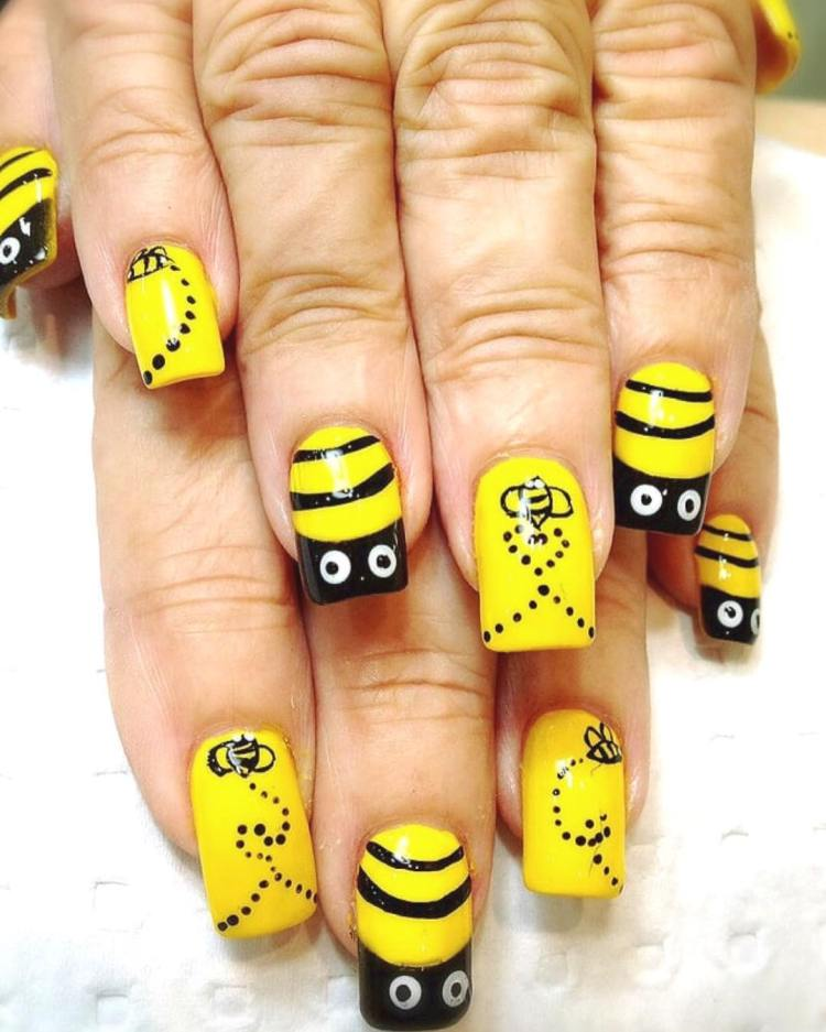 Bee design nail art images nail art and nail design ideas bee design nail art image collections nail art and nail design ideas bee design nail art prinsesfo Choice Image