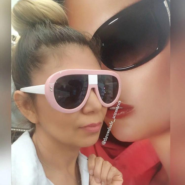 Little Miss Daisy🌸🌸 in her Take Notes Frames Pink Dark Lens #sunnies #shadequeen #boutique #summershades #fashion #pompomhat #sunglasses #eyewear #shadeplug #shadegang #hotshades #frames