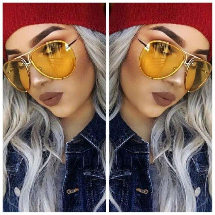 Oversize General Aviator Yellow Lens Gold Frame #sunnies #shadequeen👑 #boutique #summershades🌴 #fashion #pompomhat #sunglasses #eyewear #shadeplug #shadegang #hotshades #frames #eyewear #summer
