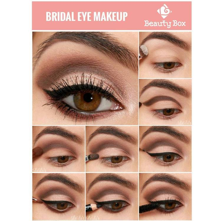 22 Useful Bridal Eye Makeup Tutorials To Be The Star Of Your Wedding
