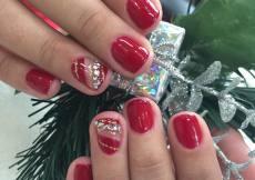 #gelnails #prettynailswagg #gelnailsdesign #nailsdesign #rednails #christmasnails
