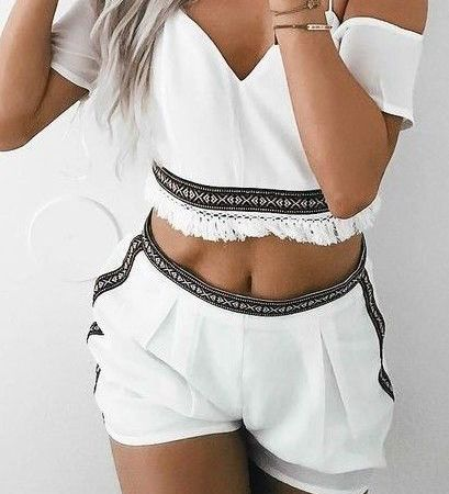 summer outfits crop top romper