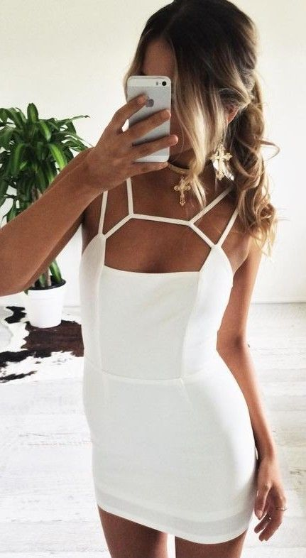 Strappy Little White Dress