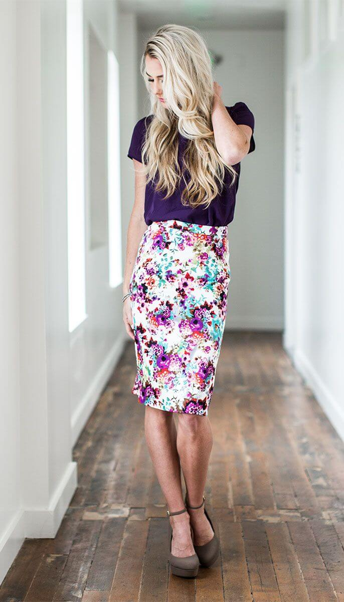 Easy, Floral Pencil Skirt