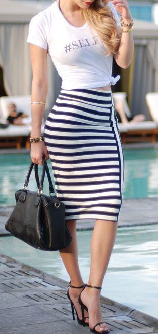 Street Style Pencil Skirt