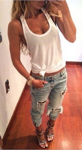 White Plain Condole Belt Sleeveless Loose Modal Vest