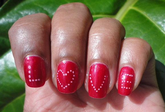 """Here's another design with the word """"LOVE""""."""