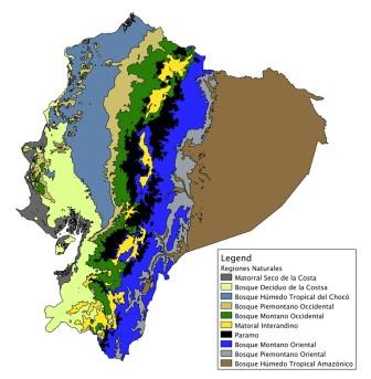 Major Bioregions of Ecuador