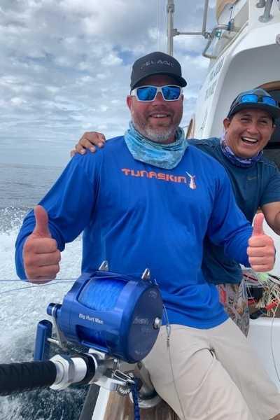 fishing and celebration
