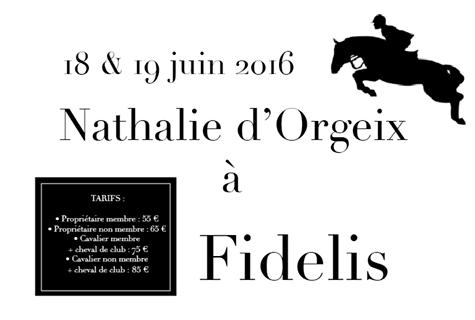 Stage Nathalie d'Orgeix 2016