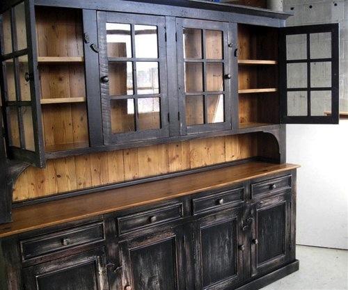Custom Rustic Dining Room Hutch ECustomFinishes