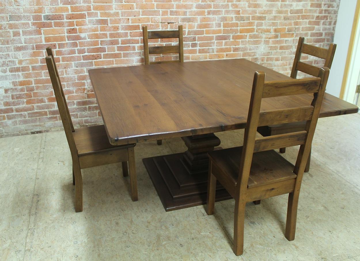Square Reclaimed Wood Table ECustomFinishes