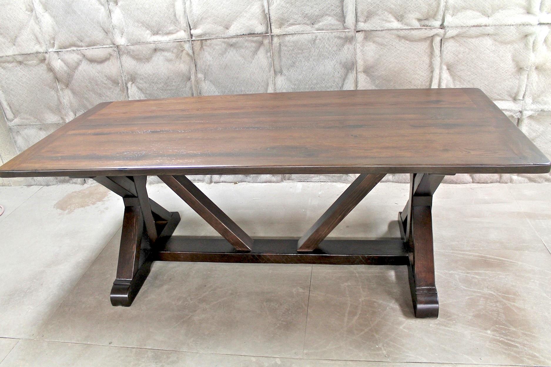 Restoration Hardware Inspired X Base Trestle Table
