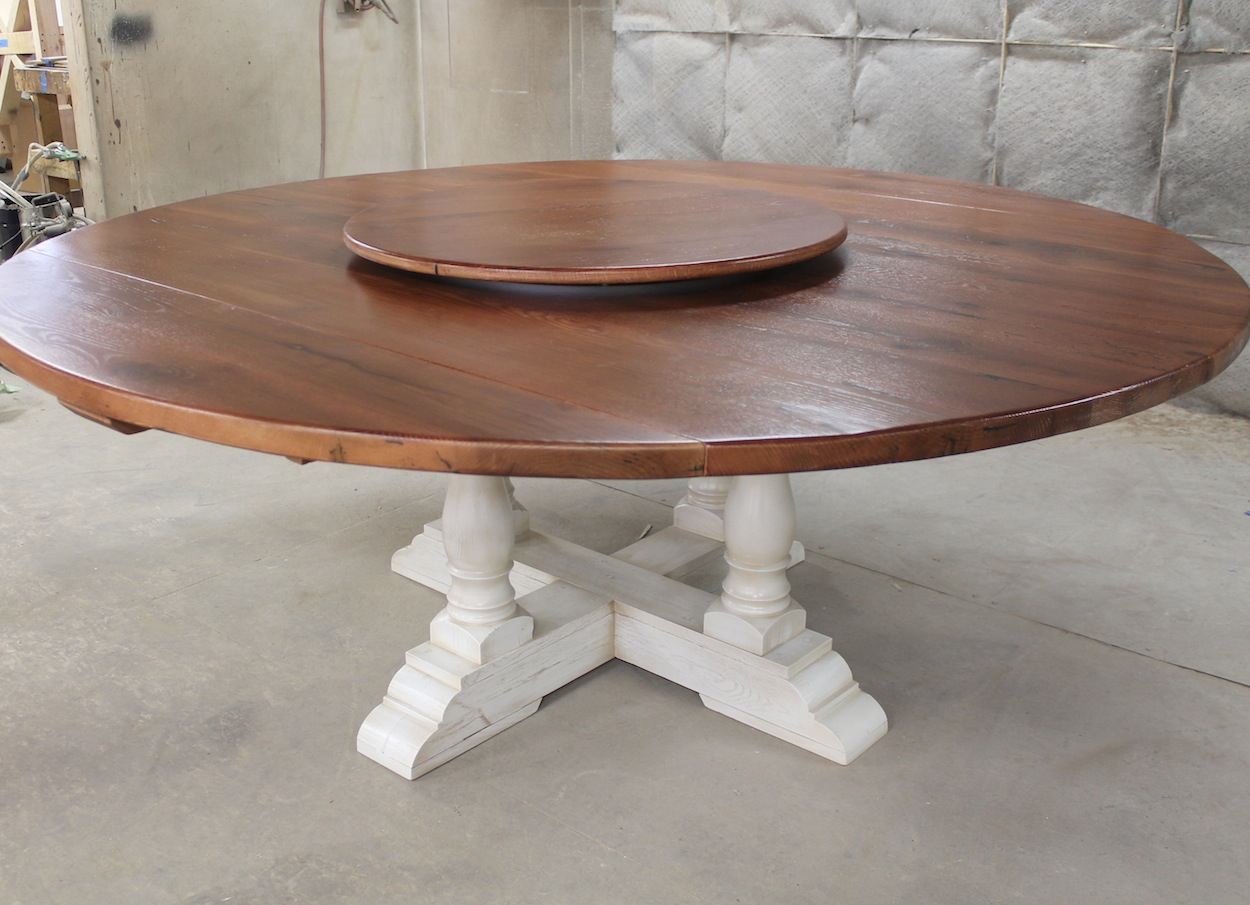 80 Round Drop Leaf Table ECustomFinishes