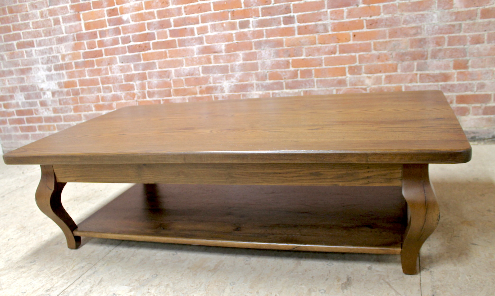 66in oak coffee table in antique walnut