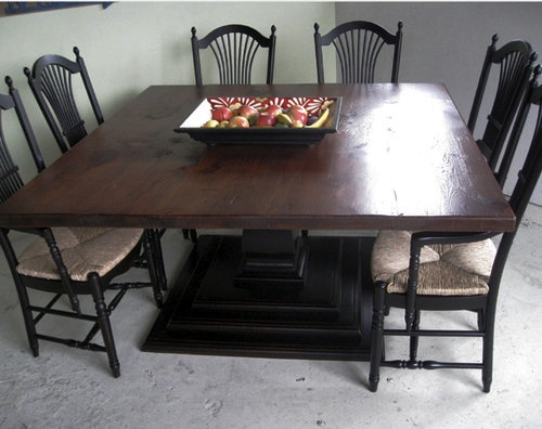 60 X 60 Square Farm Table Ecustomfinishes