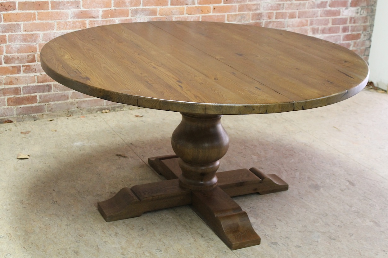 Chestnut Pedestal Table With Extension Ecustomfinishes
