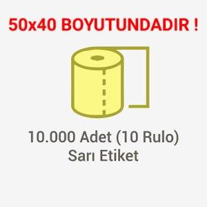 Sarı Zeminli İlaç Tarif Etiketi