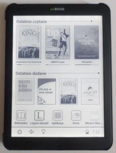 inkBOOK 8 - ekran główny