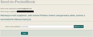 Jak założyć konto w usłudze Send-to-PocketBook 4