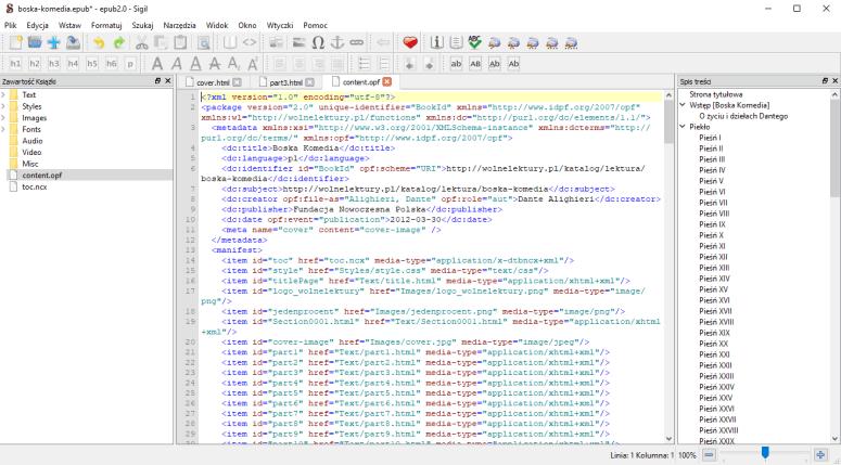 Sigil - widok kodu