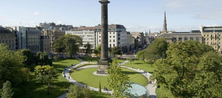 St Andrew Square, Edinburgh. Credit: Marketing Edinburgh