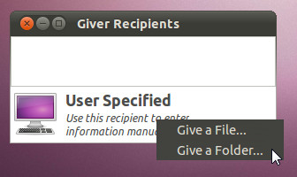 Give file