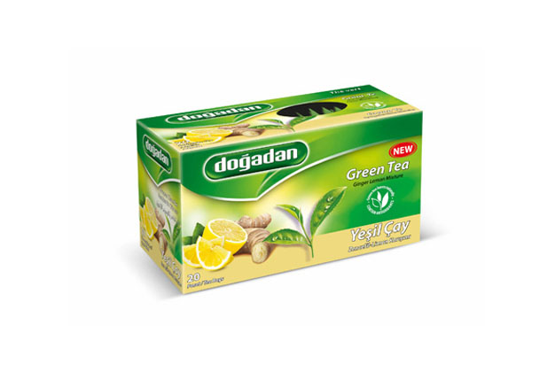 Dogadan Green Tea- Ginger- Lemon Mixture 12×20