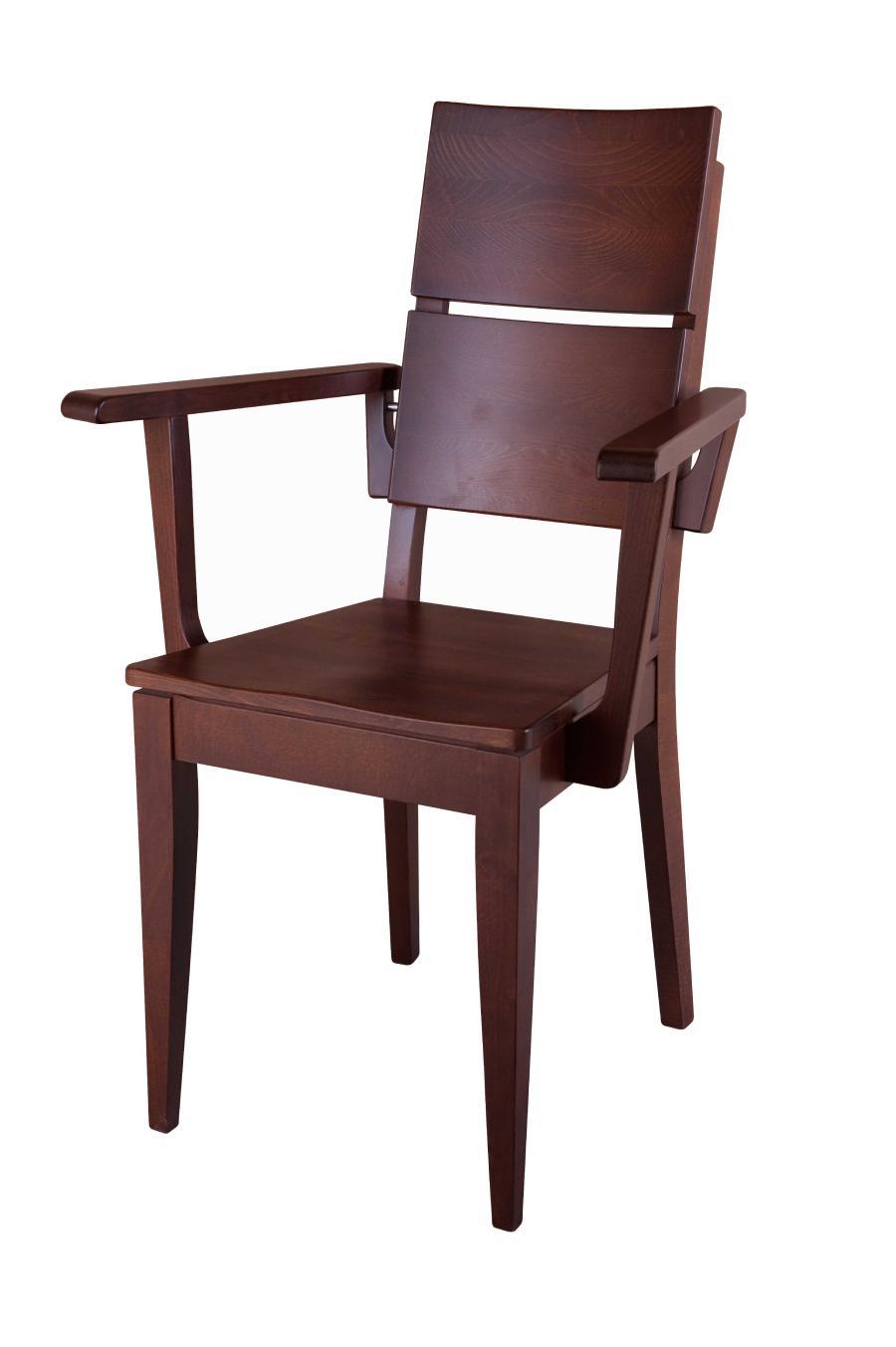 Fotel drewniany Spring K-2 z drewnianym siedziskiem