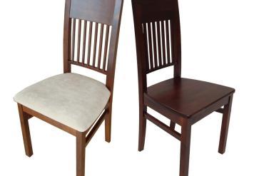 Krzesło z litego drewna tapicerowane i drewniane