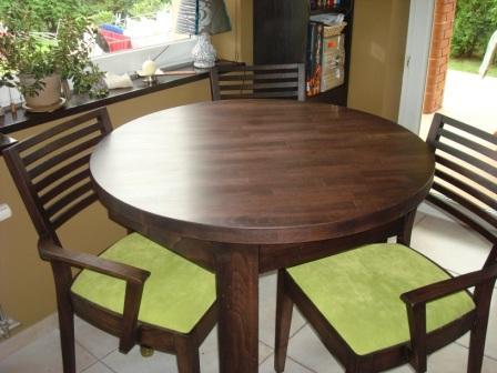 stół okrągły drewniany kolor LA bukowy