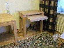 Dębowe biurko z szufladą