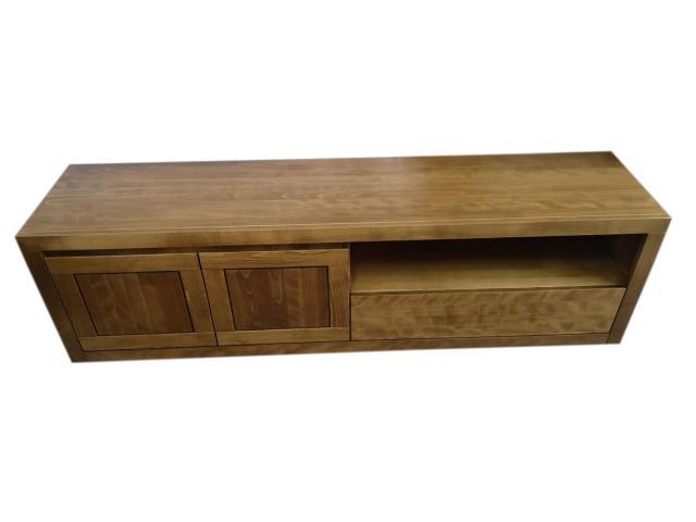 duża drewniana komoda rtv