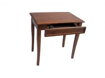 drewniany stół bukowy z szufladą