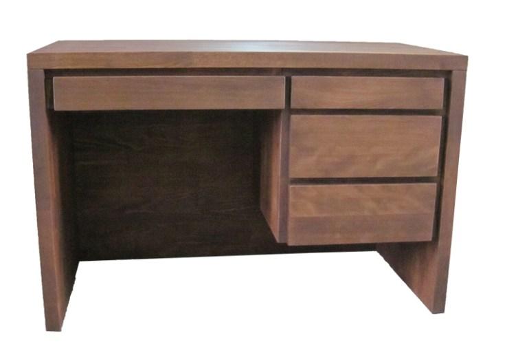 małe biurko bukowe z 4 szufladami