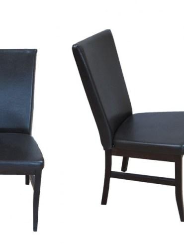 krzesło tapicerka czarna