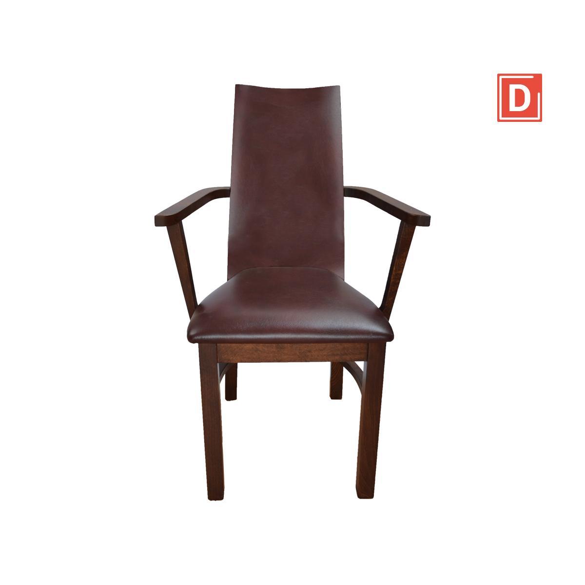 krzesło dębowe z podłokietnikiem