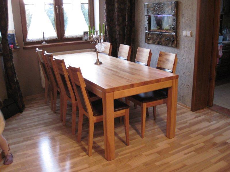 Stół bukowy Stół z drewna bukowego twardzielowego i krzesła spring K4